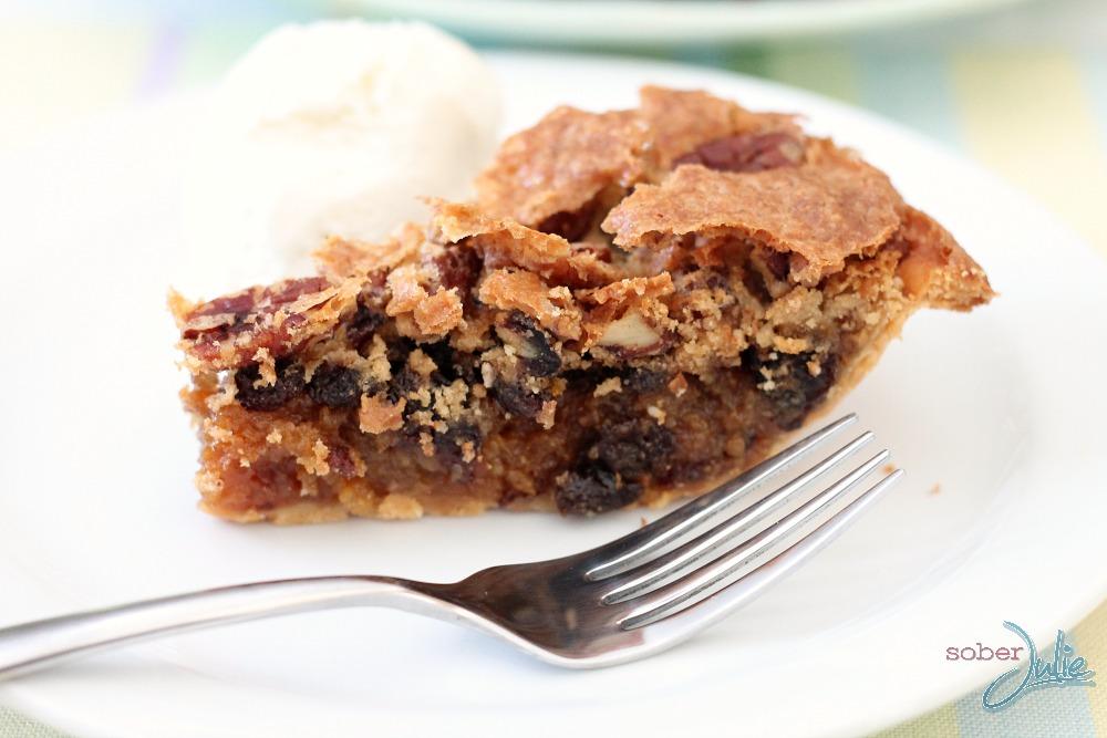 pecan pie closeup