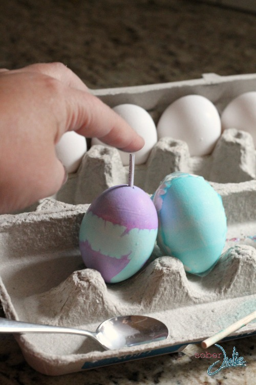 eggs with message wm