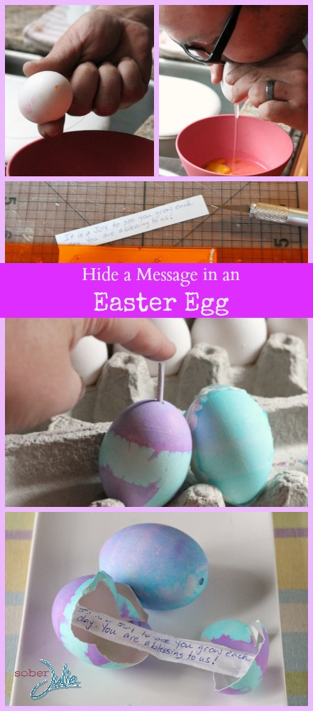 hide a message in an easter egg craft