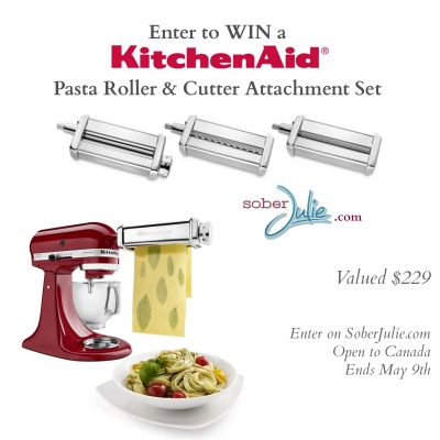 kitchenaid pasta roller giveaway