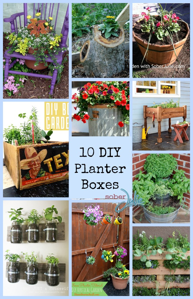 DIY Planter Box for Gardening