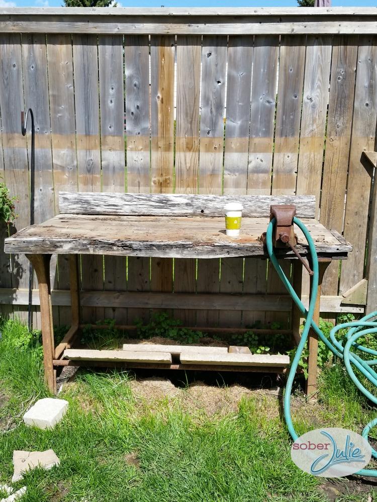 DIY Planter Table Rehab