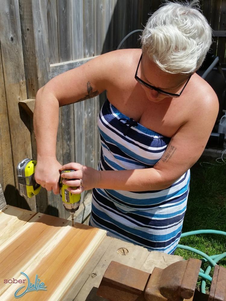 DIY planter table ryobi drill .jpg
