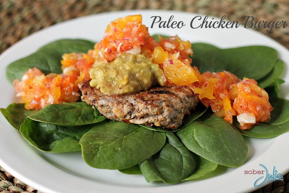 Paleo Chicken Burger