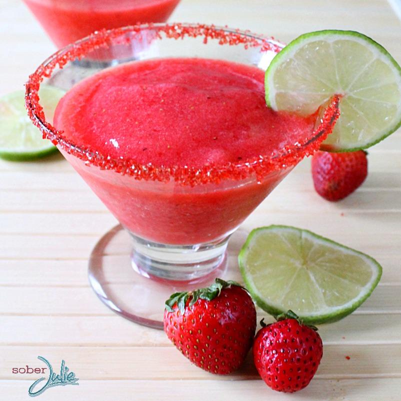 Strawberry Margarita Mocktail WMsq