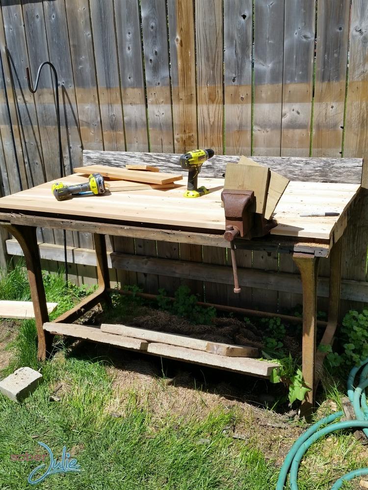 diy planter table mid way