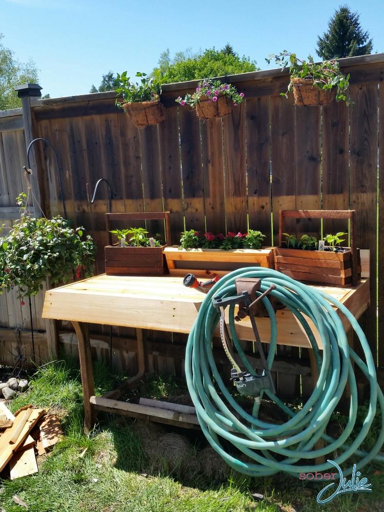diy planter table side