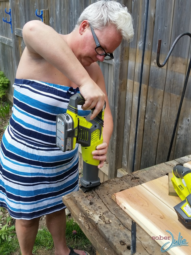 diy planter table using ryobi tools