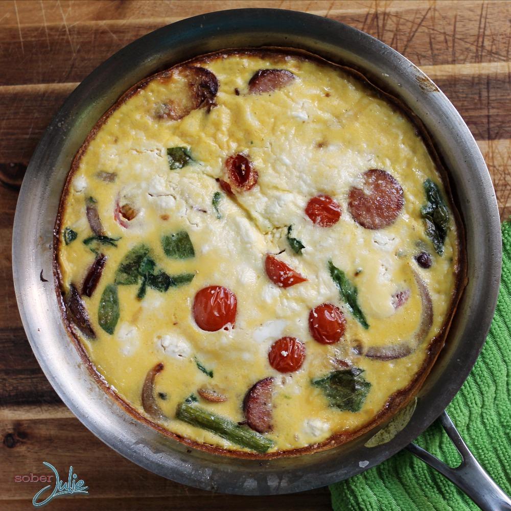 sausage & veggie fritatta recipe