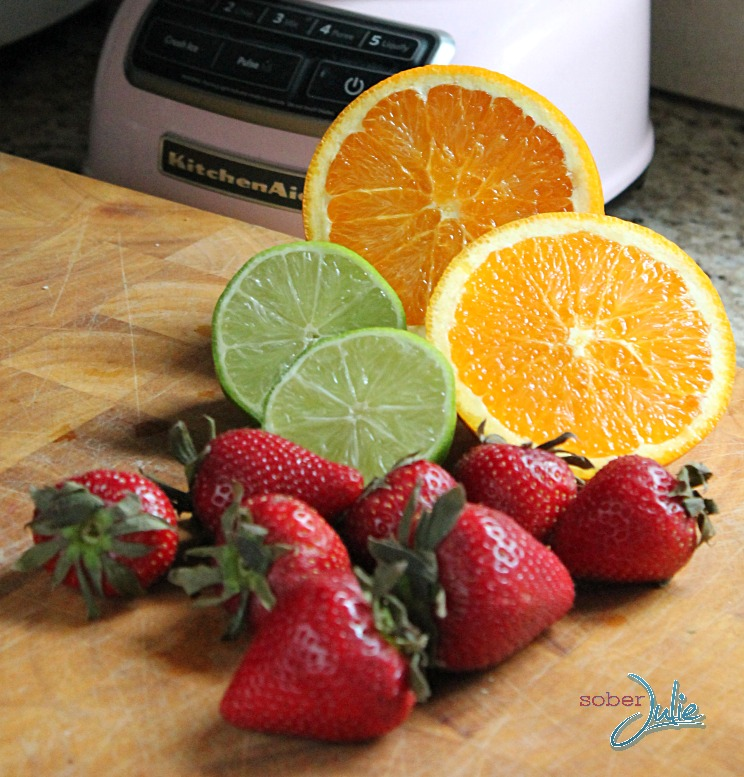 strawberry margarita mocktail ingredients