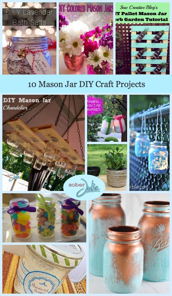 10 Mason Jar DIY Craft Projects