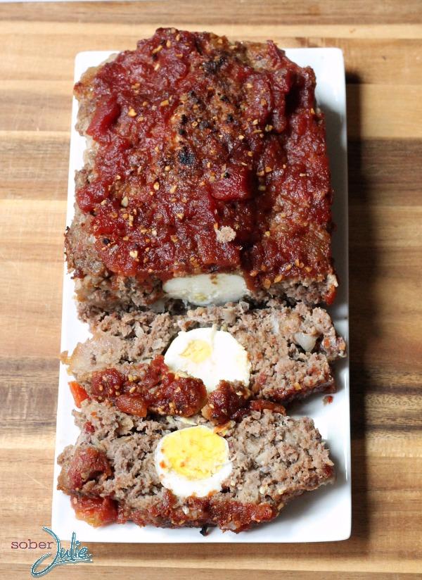 meatloaf with hard boiled egg