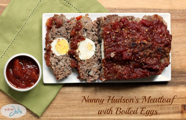 nanny hudson's meatloaf with boiled eggs