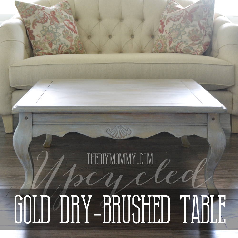 Upcycled-Gold-Dry-Brushed-Table-by-The-DIY-Mommy