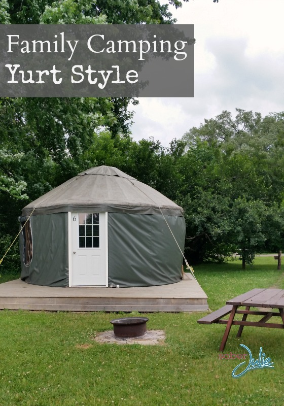 family camping Yurt Style