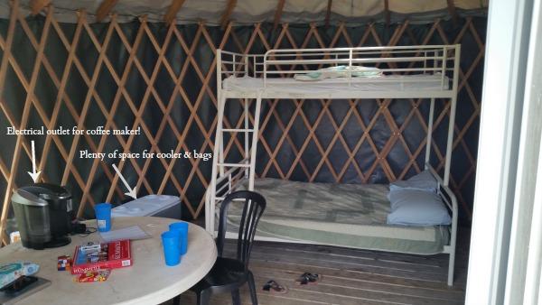family camping yurt