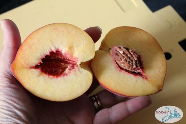 pitting a peach