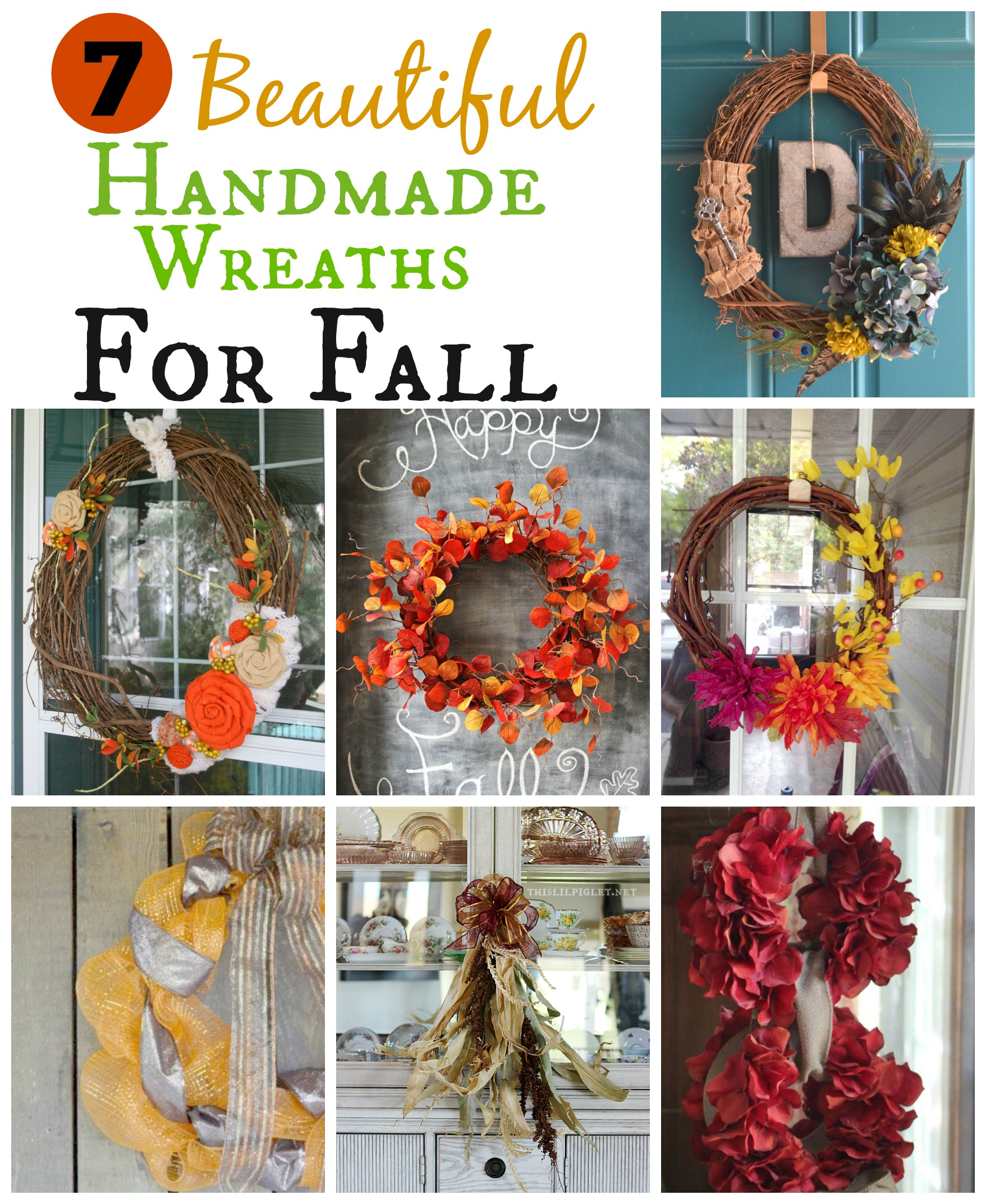 Simple, Inexpensive Fall Wreath Tutorial - Sober Julie