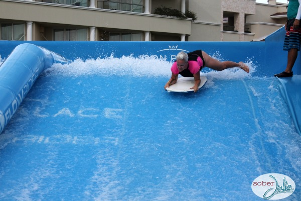boogie board on flowrider