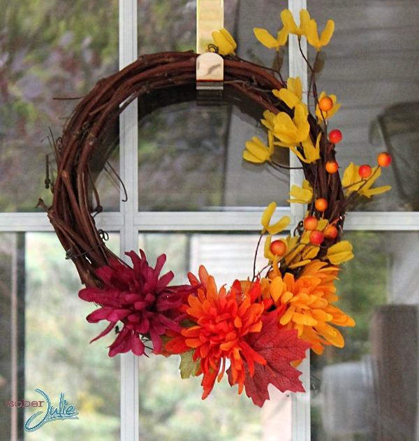 make a simple fall wreath