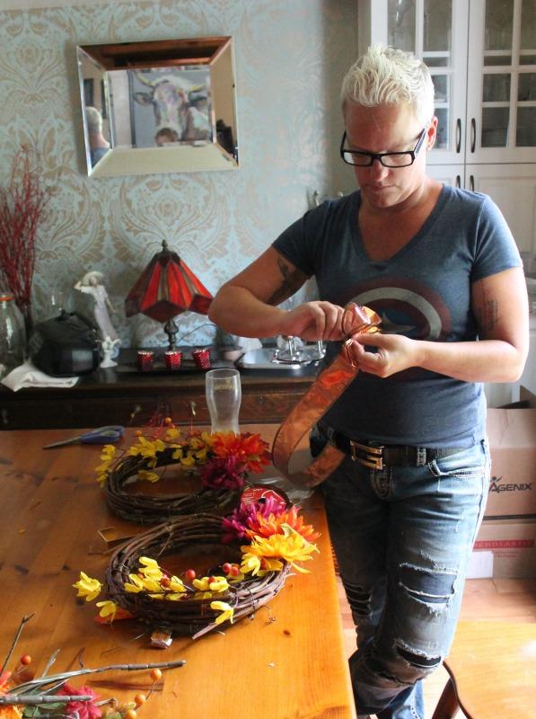 soberjulie making fall wreath