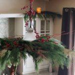 Turn a Pendant Light into a Christmas Chandelier DIY