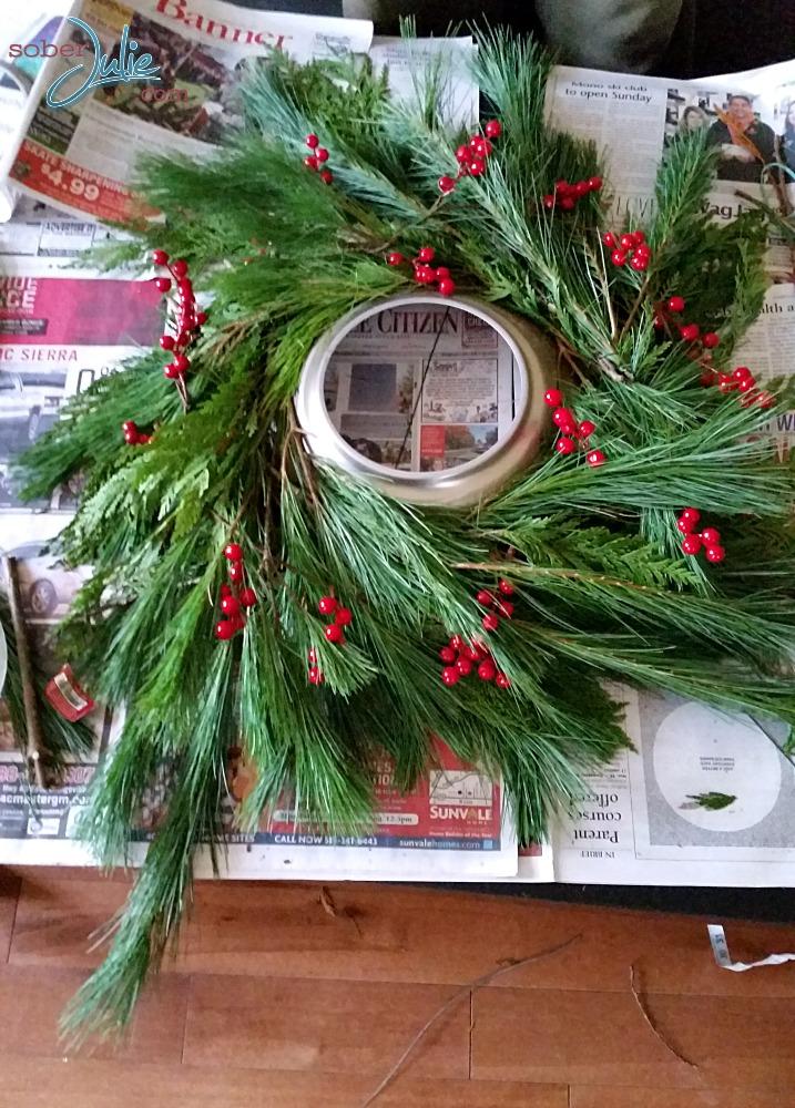christmas chandelier cranberries