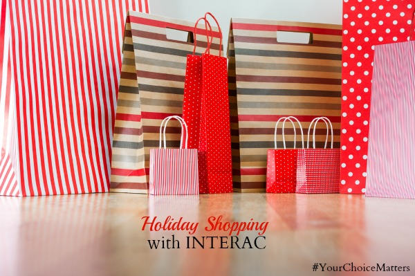 holiday shopping with Interac