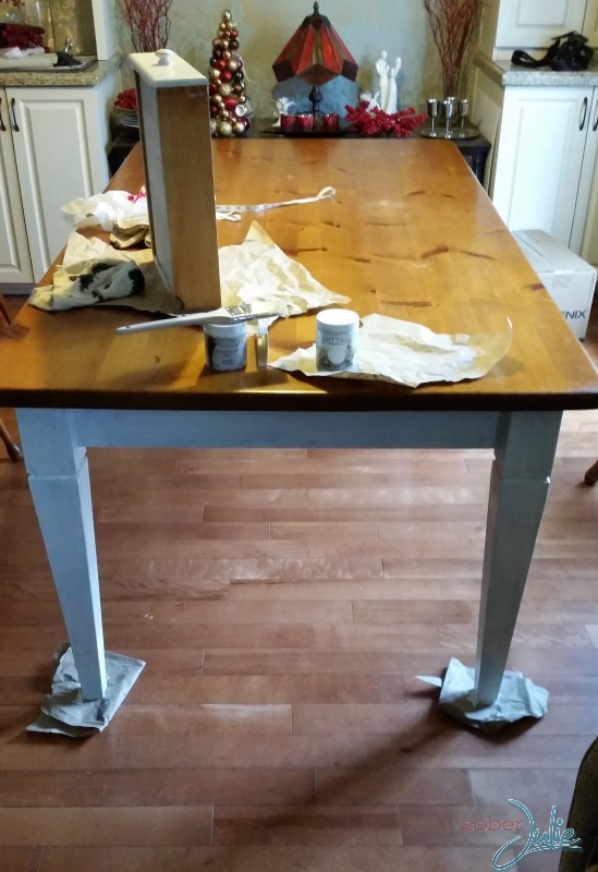 refinish furniture clay paint during