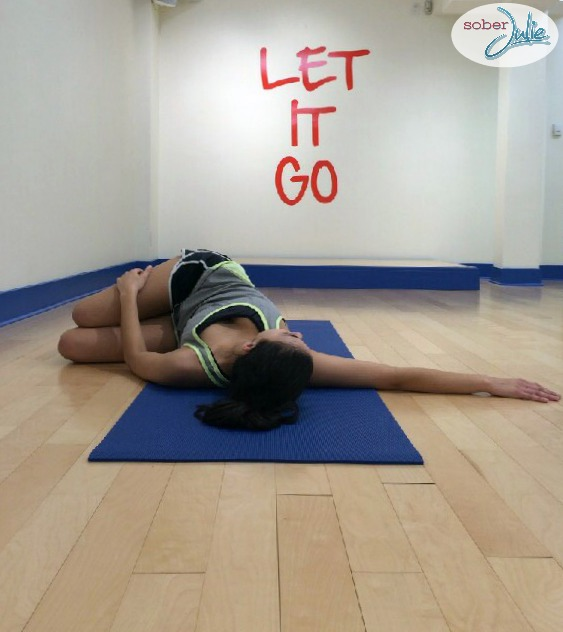1. Reclined Twist yoga poses