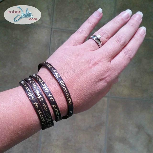 recovery bracelet because sober rocks