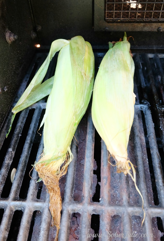 soberjulie easy corn on the bbq
