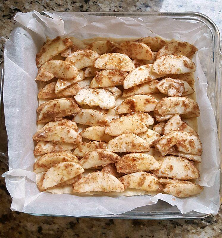 Apple Crisp Shortbread Bars- filling