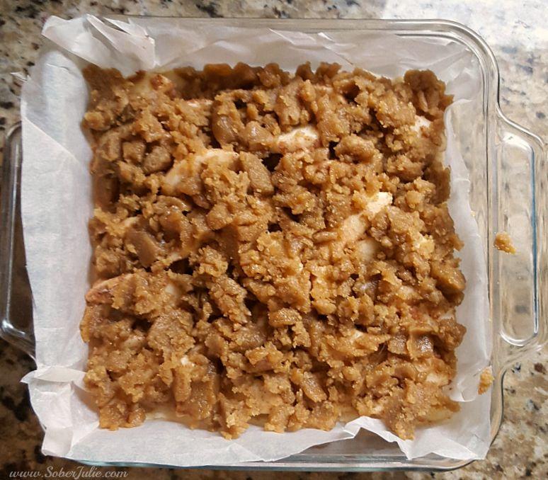 Apple Crisp Shortbread Bars-oven