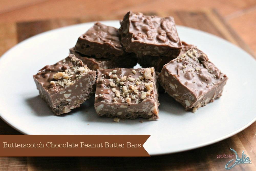 Butterscotch Chocolate Peanut Butter Bars slider