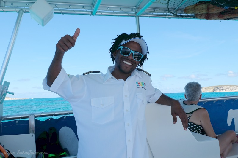 soberjulie reef and rays excursion grand turk carnival cruise captain