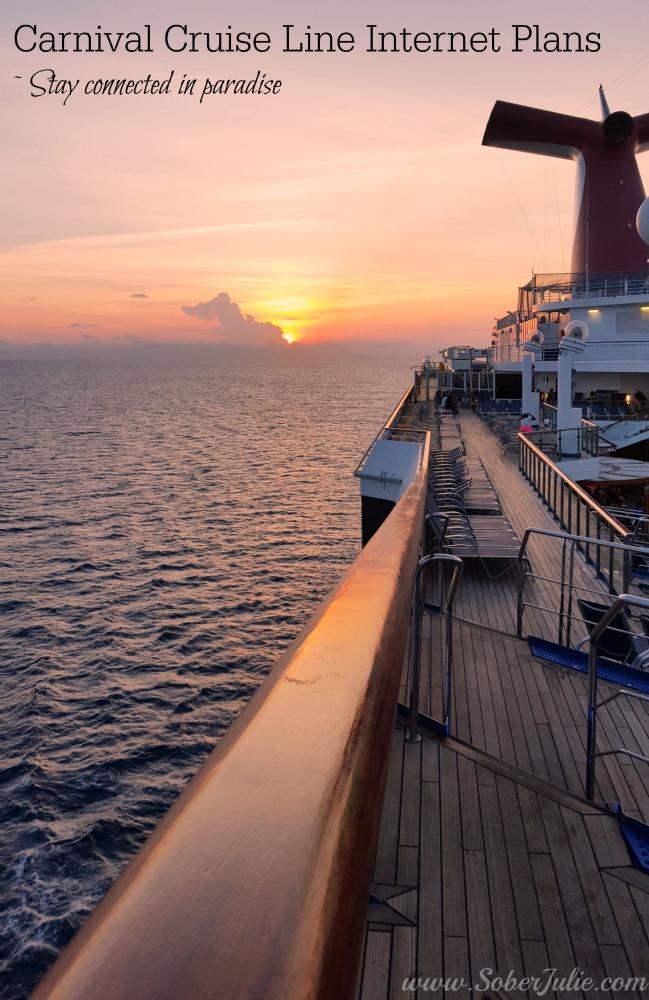 Carnival Cruise Line Internet Plans soberjulie