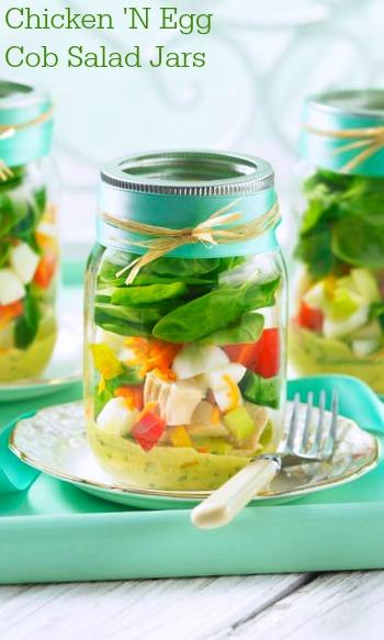 Chicken 'N Egg Cob Salad Jars recipe
