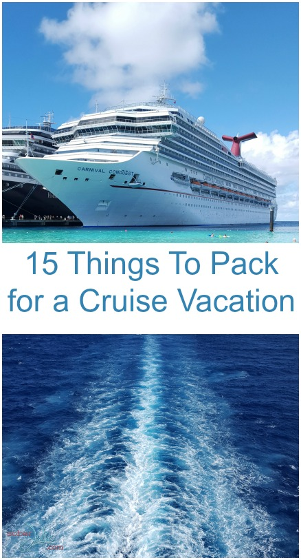 15 Things To Pack for a Cruise Vacation - Sober Julie