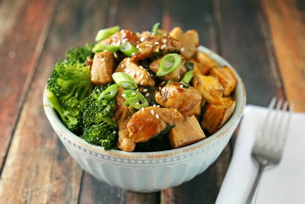 Chicken Teriyaki Bowl Recipe Sober Julie