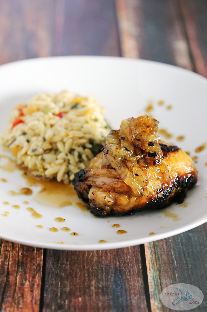 Maple chicken with caramelized onions recipe