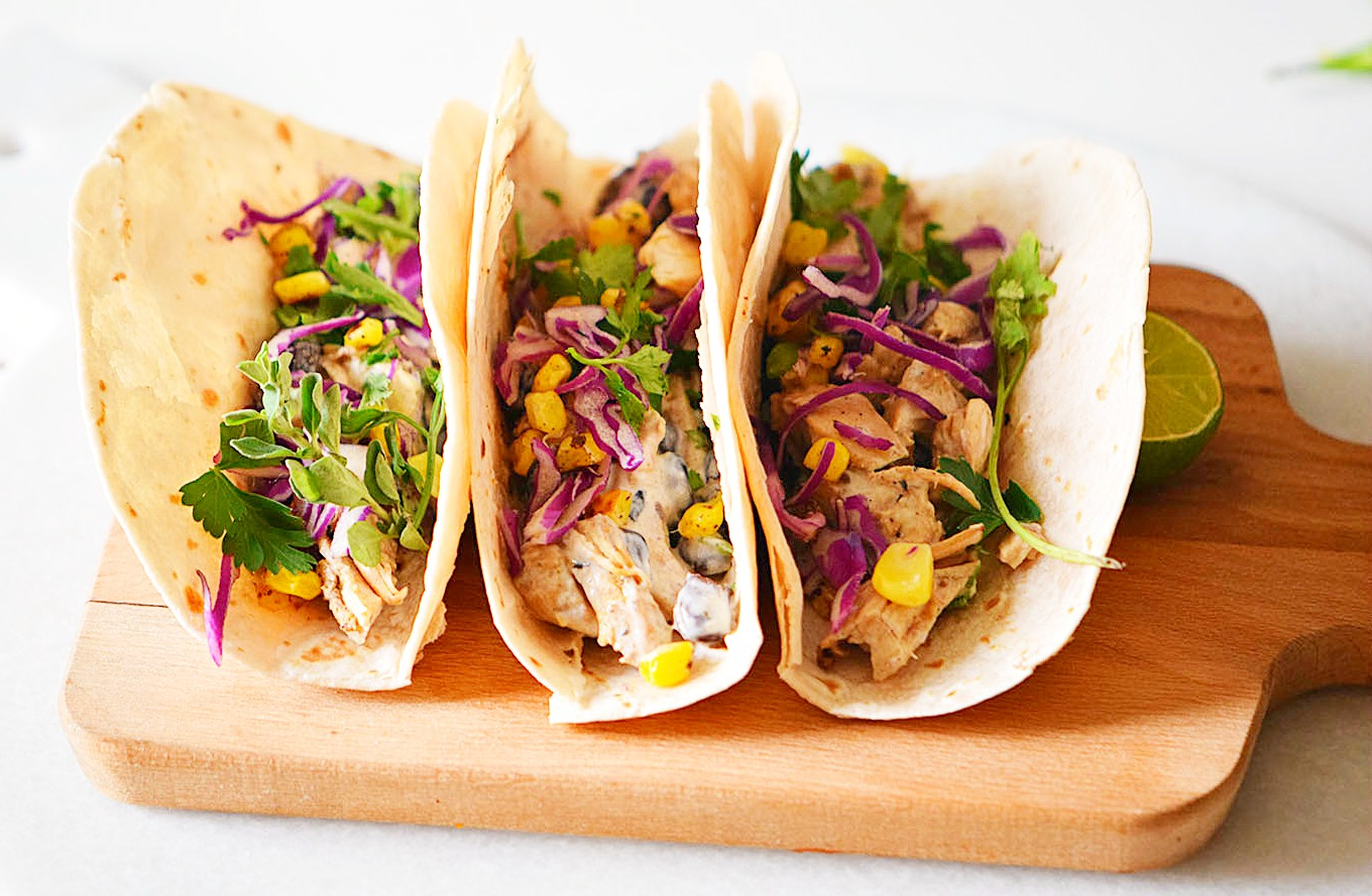 Slow Cooker Cheesy Tacos