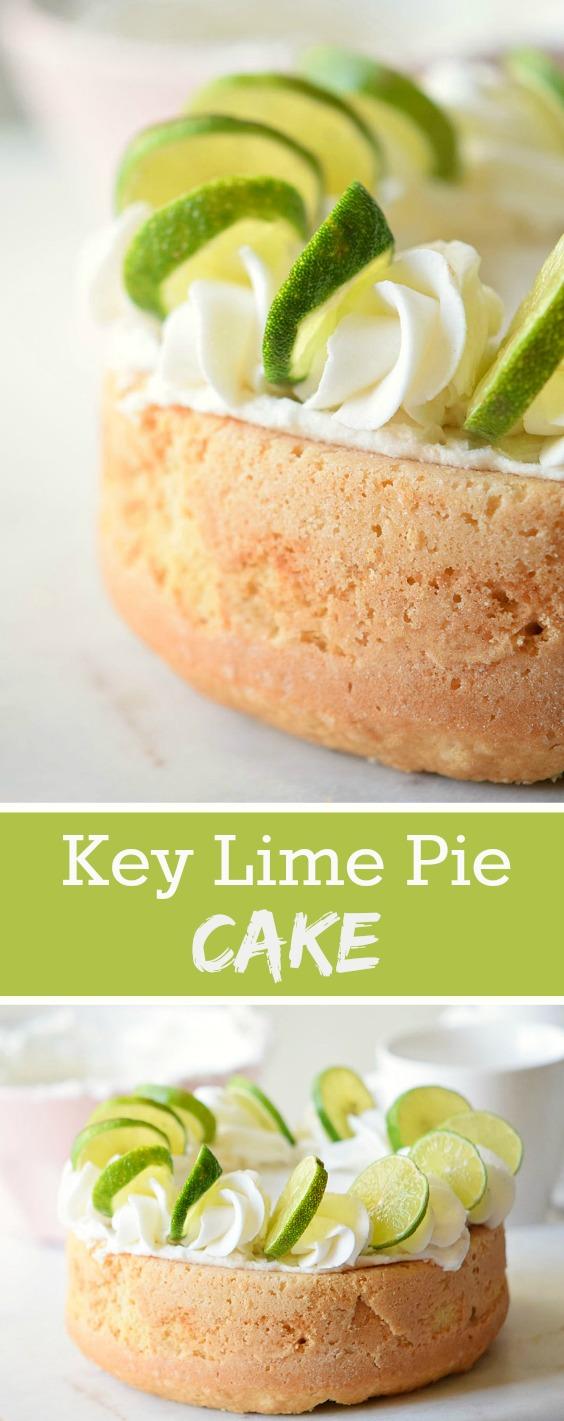 key lime pie cake dessert recipe soberjulie