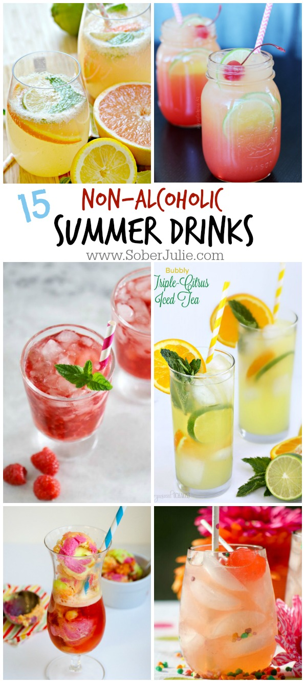 drink recipes summer alcoholic non drinks alcohol food fun cocktail sweet recipe cocktails soberjulie summertime sober party healthy birthday refreshing