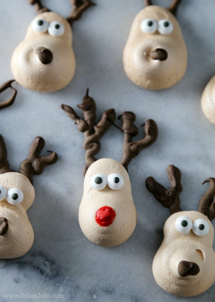 Christmas Easy Meringue Recipe Reindeer Cookie