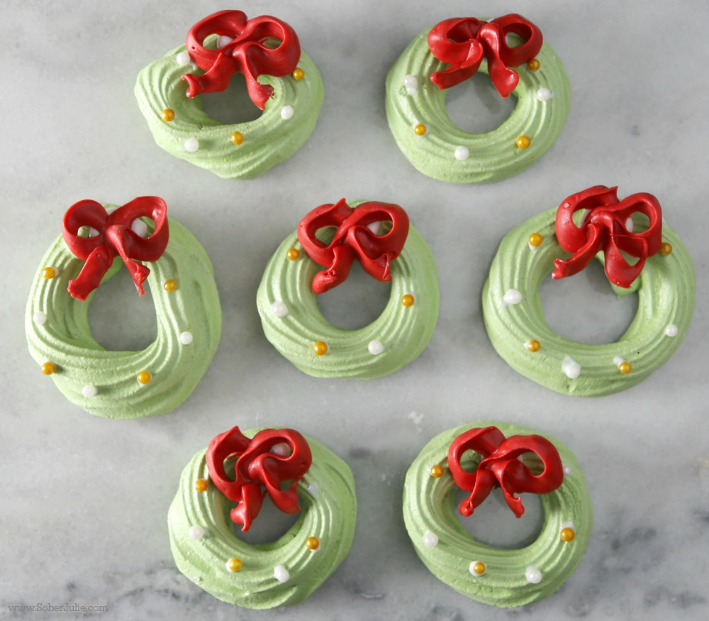 EASY Christmas Meringue Cookies #CookieEggChange - Sober Julie