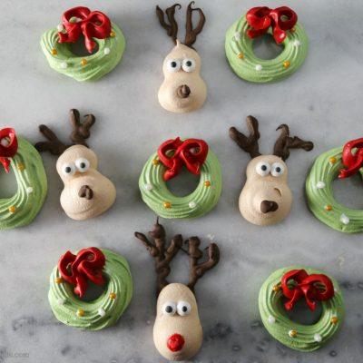 Easy Christmas Meringue Cookies Cookieeggchange Sober Julie
