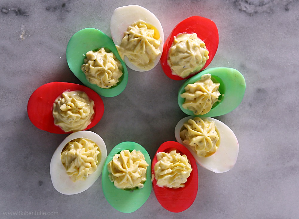 classic devilled egg recipe how to dye holiday - Christmas Deviled Eggs