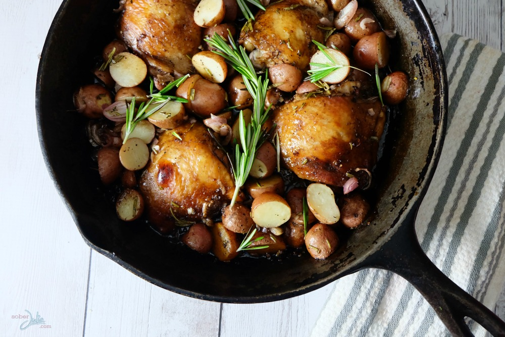 one-pot-balsamic-chicken-meal-skillet