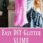 EASY DIY Slime with Glitter and Essential Oils